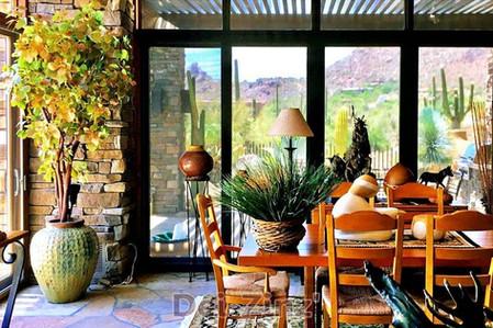 Silk-Smokeleaf-on-manzanita-in-dining-room
