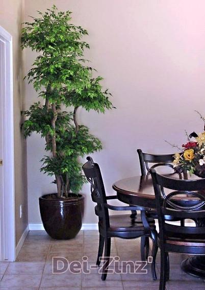 silk tree in dining room