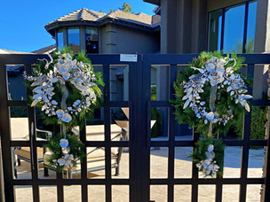 Christams wreaths on entry gate.jpg