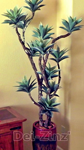 artificial frosted agave tree