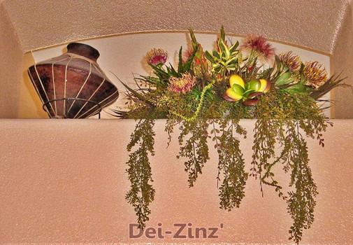 ledge-basket-with-faux-succulents