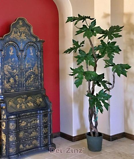 unique silk fatsia leaf tree