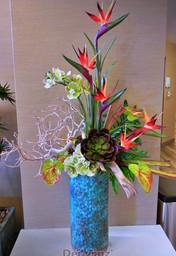 Holiday Inn hotel silk tropical arrangement