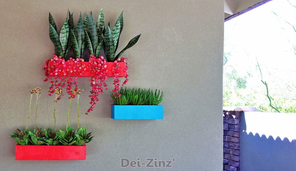 residential-wall-planters-with-faux-succulents