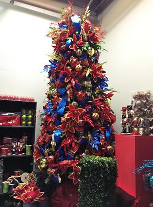 festive nut cracker themed CHristmas tre