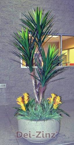 3-head artificial yucca