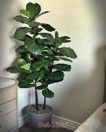 smalll silk fiddle leaf tree