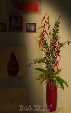 tall artificial floral arrangement