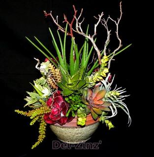 faux succulent bowl