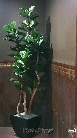 upright faux fiddle leaf fig tree