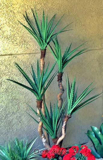 outdoor artificial sharp leaf yucca