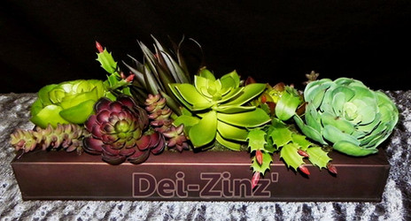 artificial succulent window box