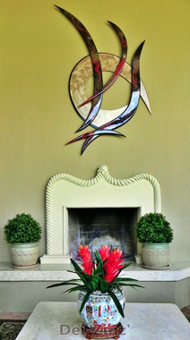 private-patio-with-boxwood-and-bromeliad