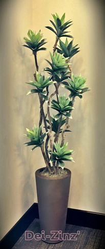 artificial mini frosted agave