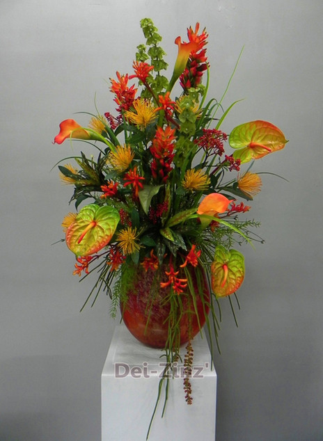 brilliant shades of orange arrangement