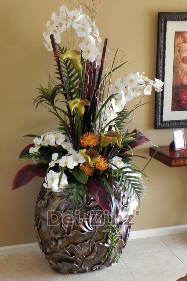 exquisite silk orchid arrangement