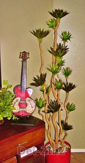 artificial mini black agave