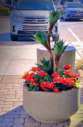 bright-outdoor-faux-hibiscus-and-agave
