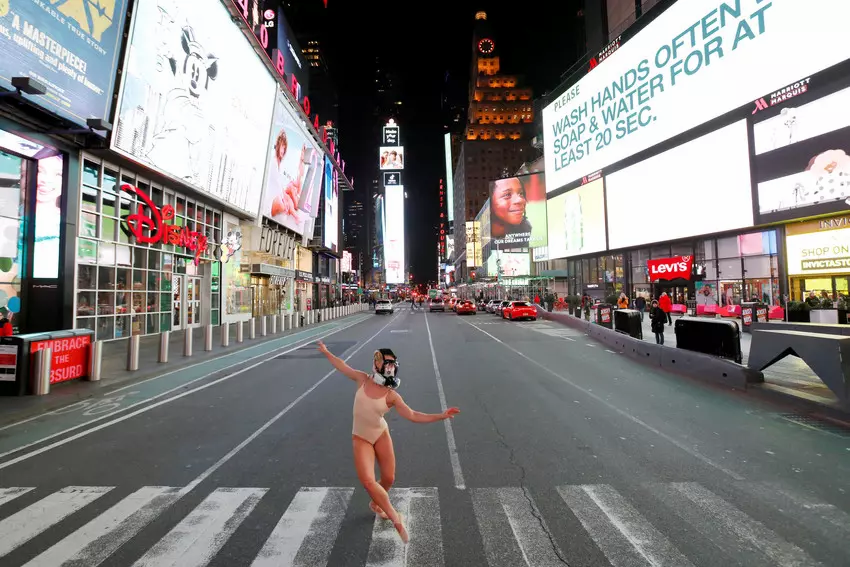 Dancing in Times Square