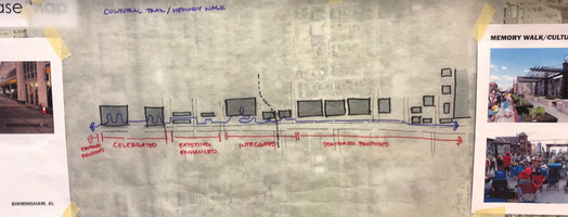 Memory Walk Concept Sketch