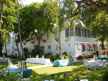 Little White House is a perfect ceremony location. Heritage House is great for Key West weddings as well