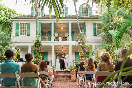Audubon House is a wonderful garden venue for weddings in Key West