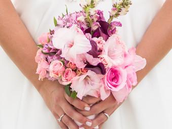 {Lindsey & Joey} - married  on Smathers Beach - Key West Florist- Wedding florist