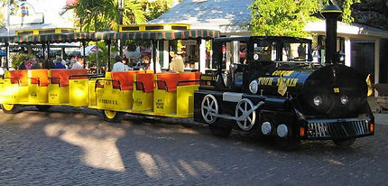 Key West Conch Train is best and most convinient for weddings. Everyone can be transferred at one time