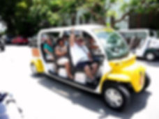 Electric cars are so popular in Key West. They are perfect for a small wedding party