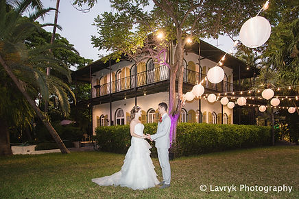 Weddings at Hemingway house are especially elegant