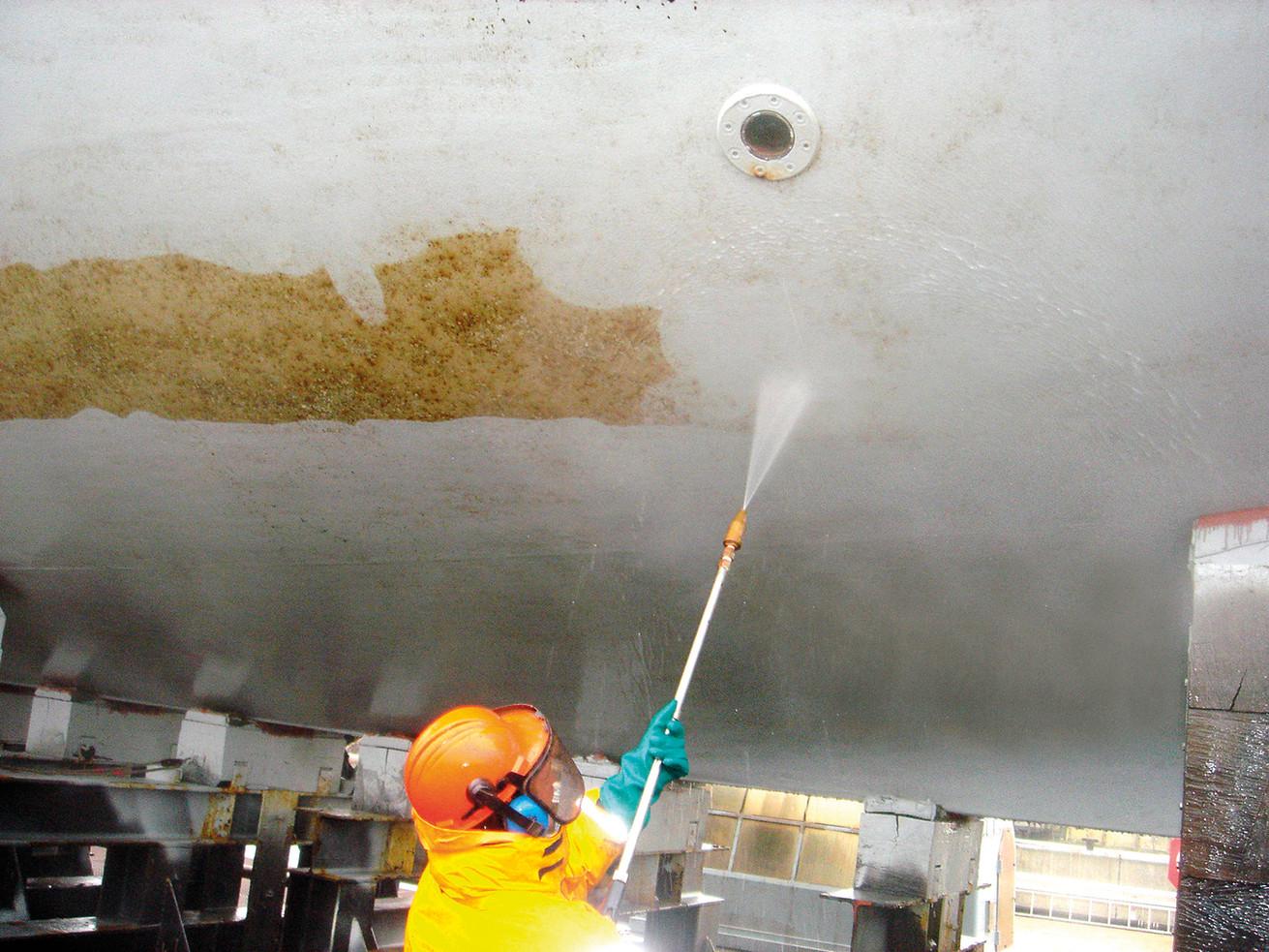 Wassen in dok
