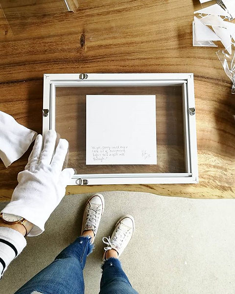 Framing some of the beautiful work for _