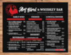 Art Bird & Whiskey Bar Menu