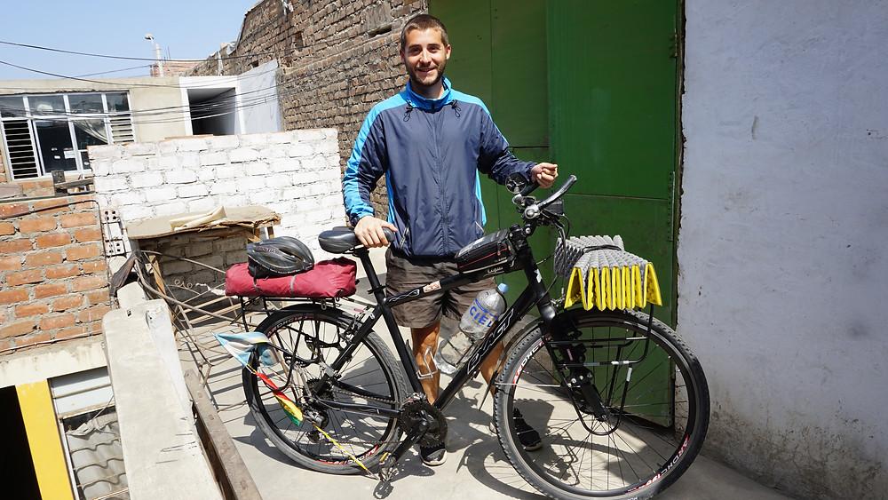 Franco, notre ami cyclotouriste argentin