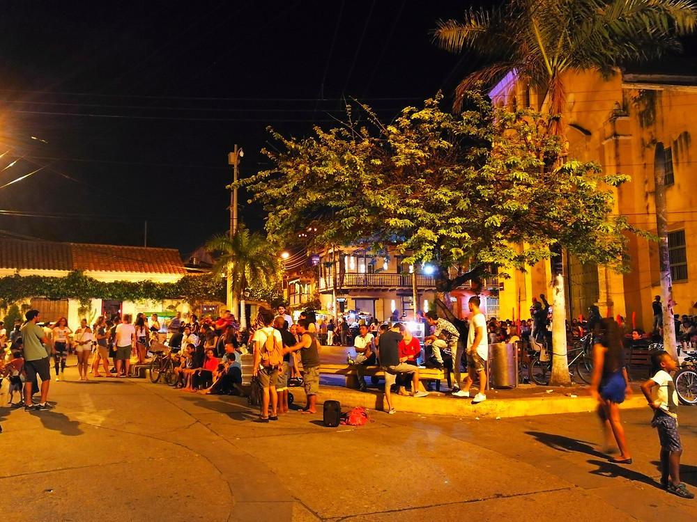 Getsemani la nuit, Carthagène, Colombie