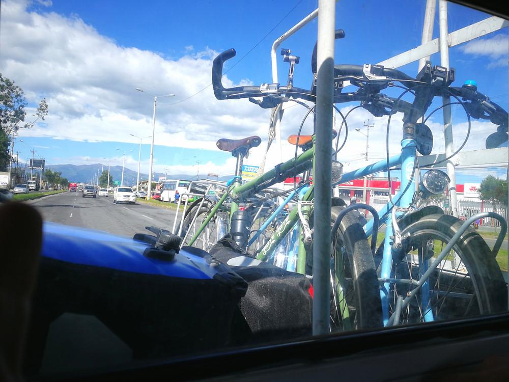Pick up pour les vélos, Quito