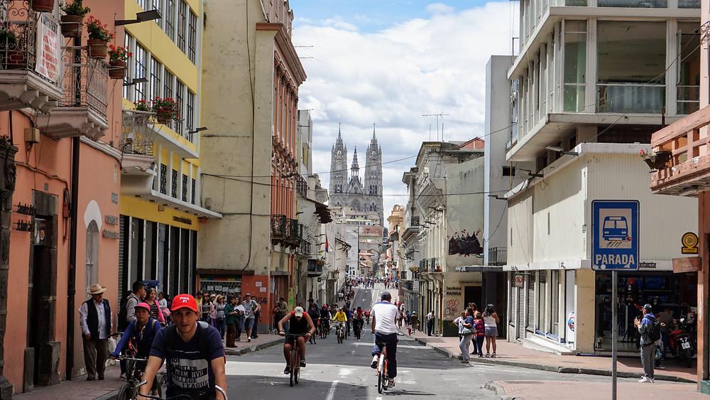 Parcours vélo du dimanche, à Quito