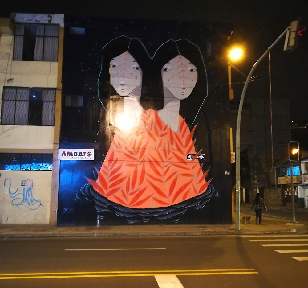 Fresque murale, Ambato, Equateur