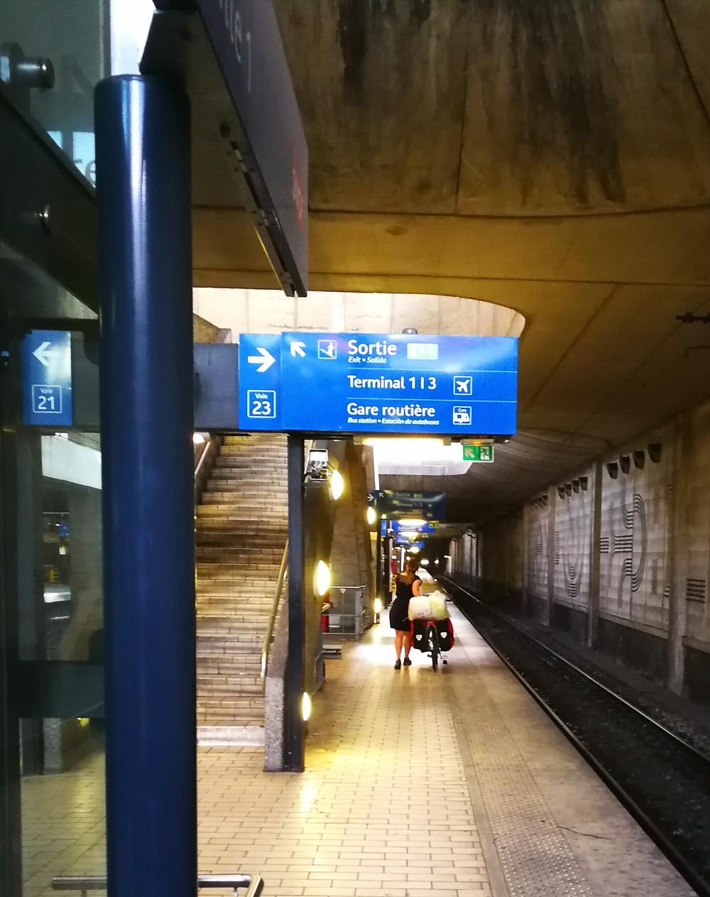 Le RER en vélo