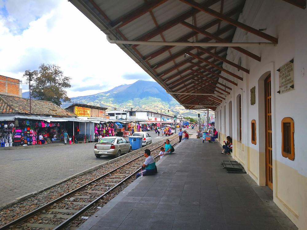 Gare de trains à Ibarra, Equateur