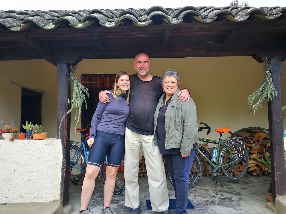 Ron et Suzy, Finca Cotacachi, Warmshower