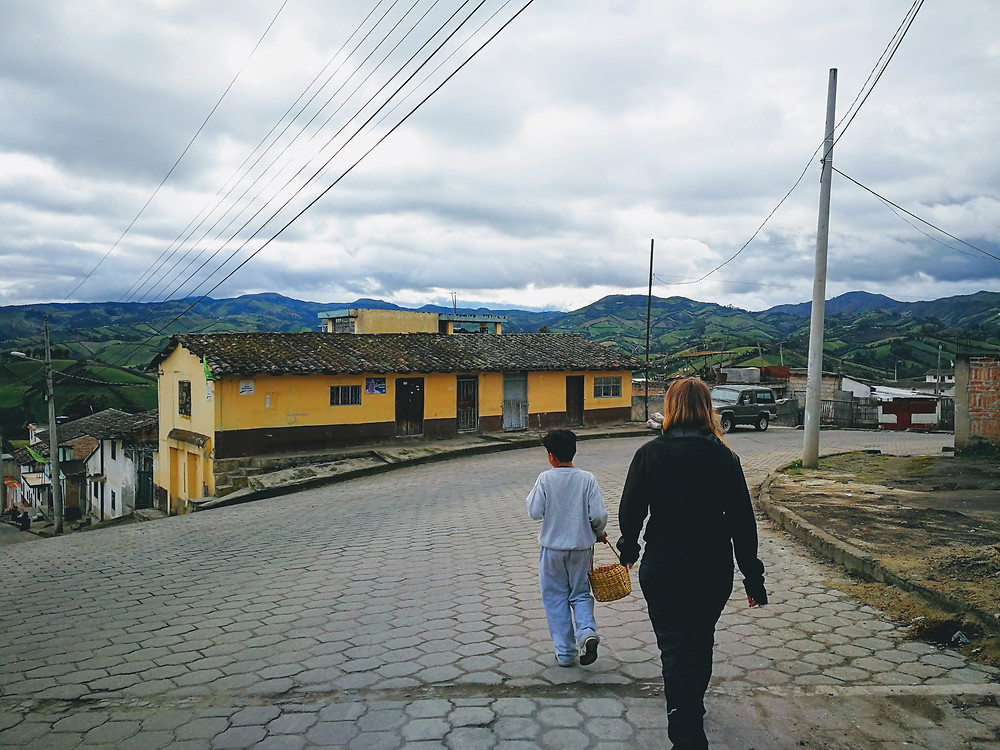 Amandine et Darwin à Julio Andrade, Equateur