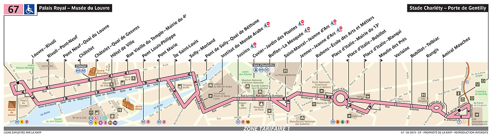 Plan ligne 67 - RATP