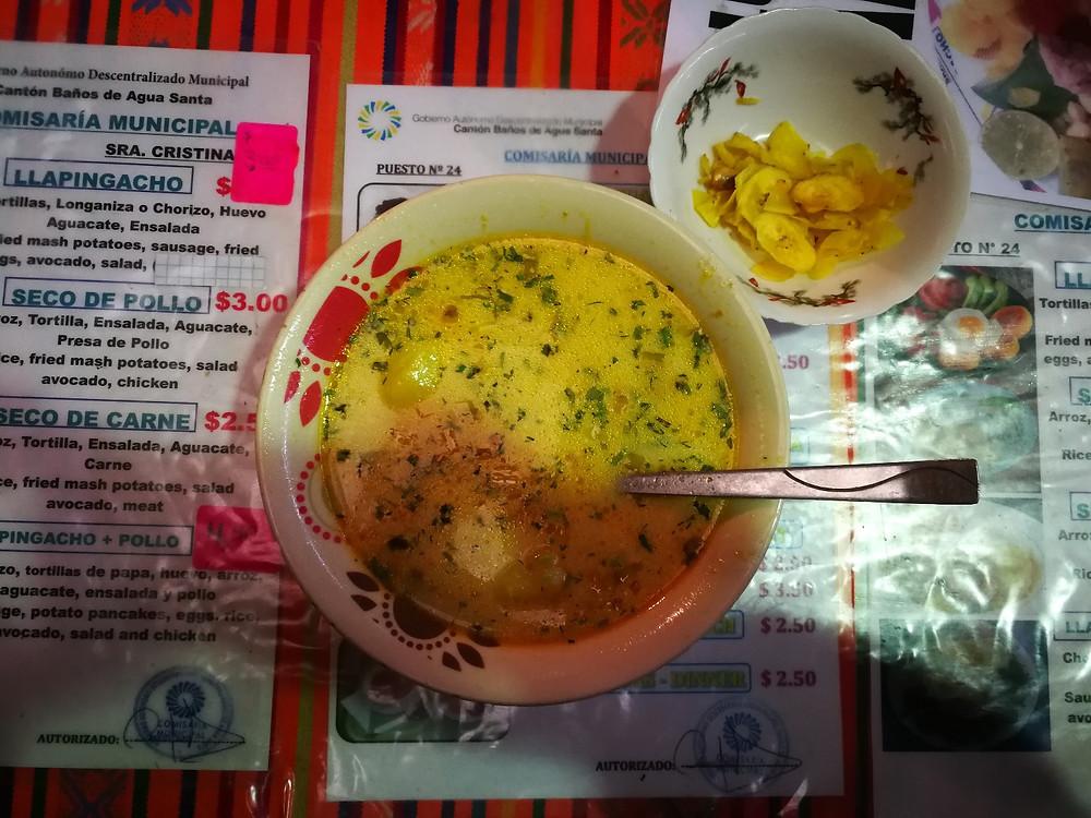 Almuerzo del mercado, Banos, Equateur