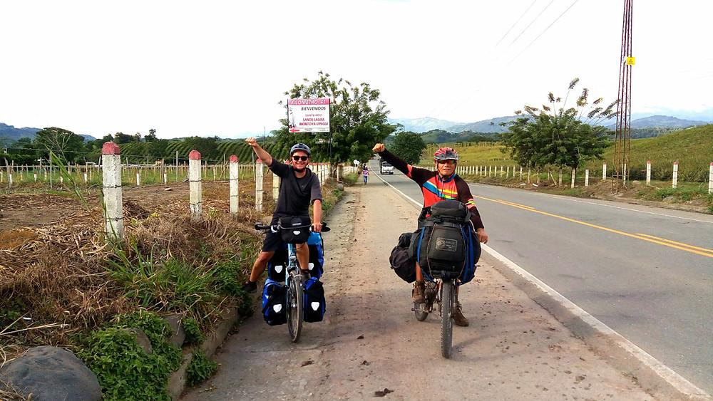 Rencontre avec un cyclotouriste Colombien