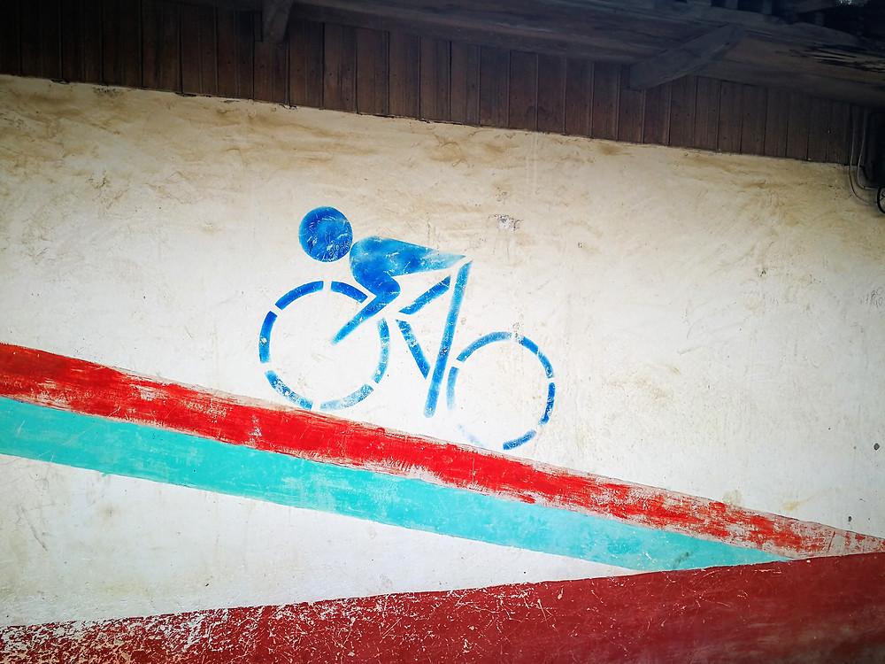 Julio Andrade, peinture de vélo