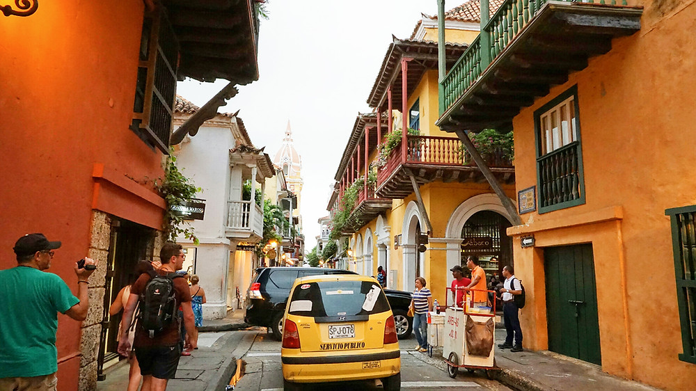 Vieille ville à Carthagène