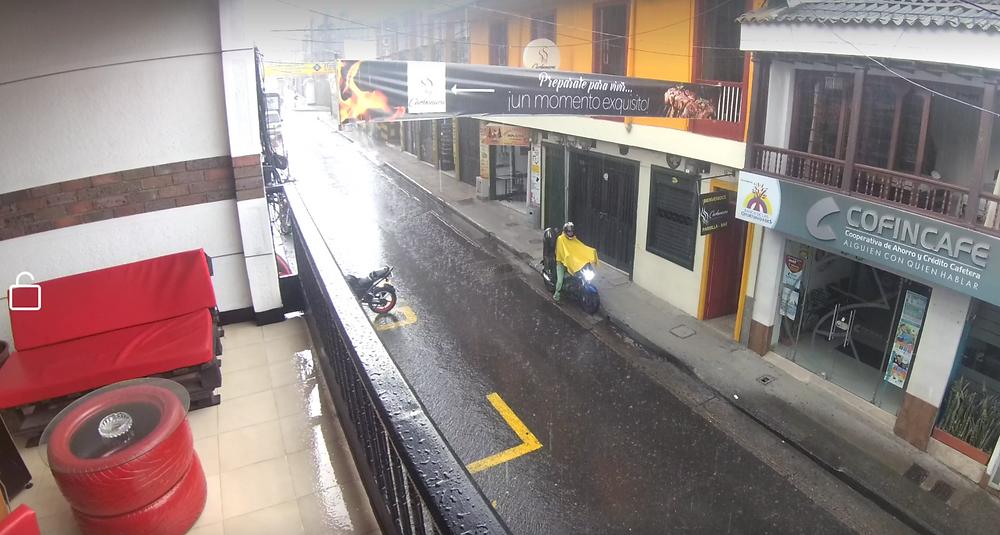 Santa Rosa de Cabal sous la pluie