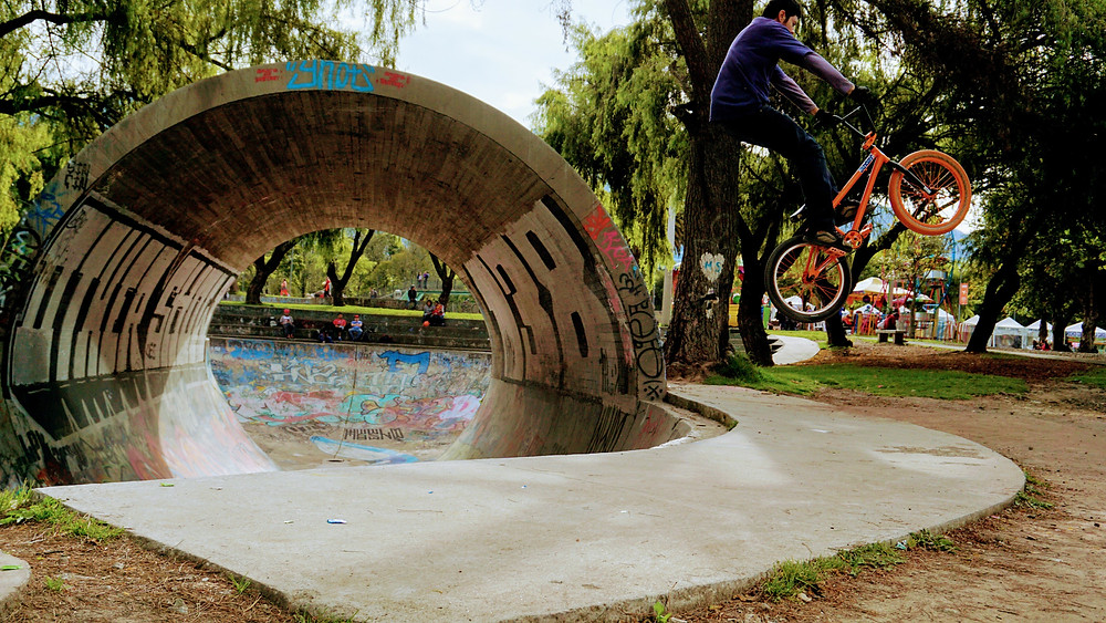 skatepark à Quito, Equateur