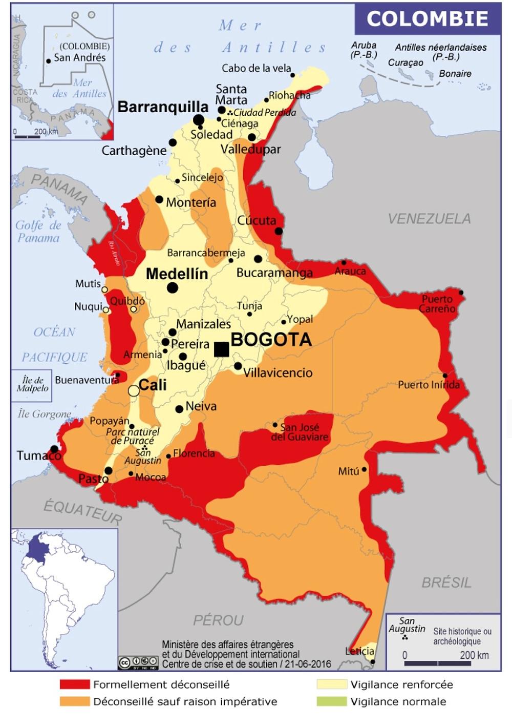 Zones à risques, Colombie